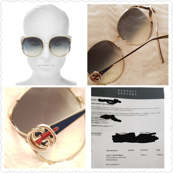 f0d4641baee GUCCI Round-Frame Metal Sunglasses♥100% AUTHENTIC